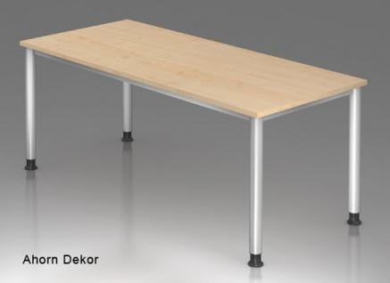 Schreibtisch Hammerbacher H-Serie 180 x 80 cm Ahorn Dekor