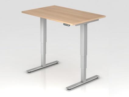 Schreibtisch Hammerbacher XD-Serie Elektro 120 x 80 cm Eiche Dekor