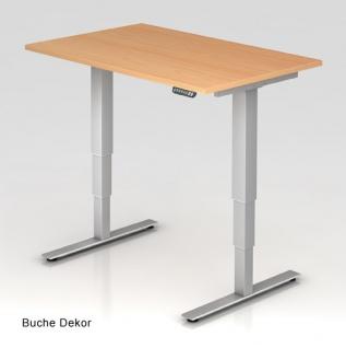 Schreibtisch Hammerbacher XD-Serie Elektro 120 x 80 cm Buche Dekor
