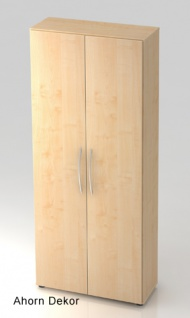 Büroschrank Hammerbacher Basic 5 OH Türen 80 x 33 x 188 cm Ahorn Dekor