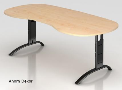 Chefschreibtisch Hammerbacher F-Serie 200 x 100 cm Ahorn Dekor