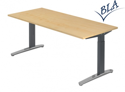Schreibtisch Hammerbacher XB Elektro Aktiv 200 x 100 cm Ahorn graphit Po