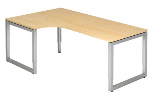 L-Schreibtisch Hammerbacher R-Serie 200 x 120-80 cm Ahorn Dekor