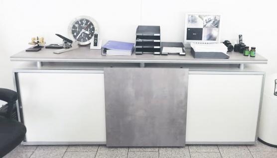Schiebetüren-Büro Sideboard Expendo Line Exklusiv 240 cm 2 OH SW-board Auswahl Farbe Optionen