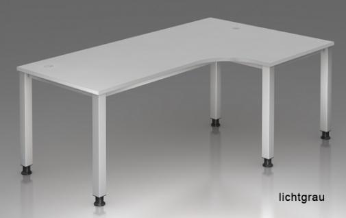 L-Schreibtisch Hammerbacher Q-Serie 200 x 120-80 cm Buche Dekor