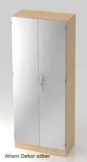 Büroschrank Hammerbacher Solid SS 5 OH Türen 80 x 42 x 201 cm Ahorn Dekor silber