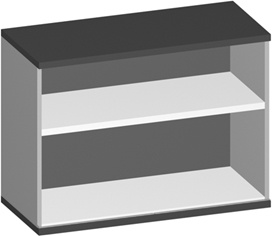 Regal Pendo Vari Edo 1 1-2 OH 100 x 72 x 44 cm Auswahl Farbe Optionen
