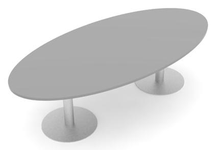 Konferenztisch Pendo Rondo Big Boot Auswahl Farbe - Vorschau 1