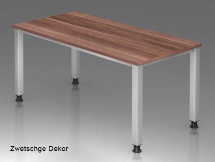 Schreibtisch Hammerbacher Q-Serie 120 x 80 cm Zwetschge Dekor