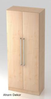 Garderobenschrank Hammerbacher Solid 5OH Türen 80 x 42 x 201 cm Ahorn Dekor