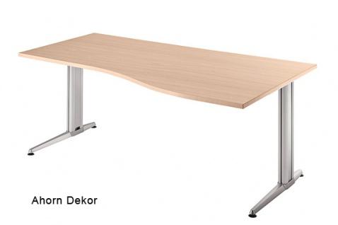 Schreibtisch Hammerbacher XS-Serie 160 x 80 cm Ahorn Dekor
