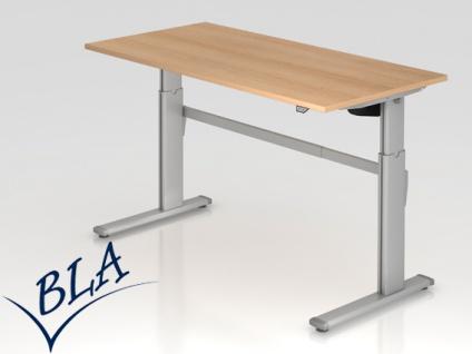 Schreibtisch elektrisch höhenverstellbar Hammerbacher Maximal 160 x 80 cm Auswahl Farbe Optionen