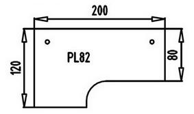L-Schreibtisch Hammerbacher XS-Serie 200 x 120-80 cm Zwetschge Dekor