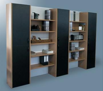 Büro Schrankwand Pendo Multi 297 x 44 x H 221 cm 6 OH 2 Auswahl Farbe Optionen