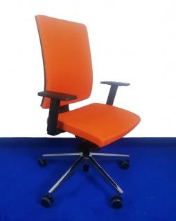 Bürostuhl Nowy Styl Navigo orange Alu poliert Top Vor Ort Artikel