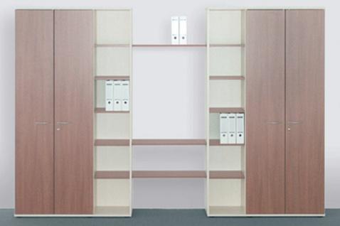 Büro Schrankwand Pendo Vari Edo 360 x 224 x 44 cm 6 OH Auswahl Farbe Optionen