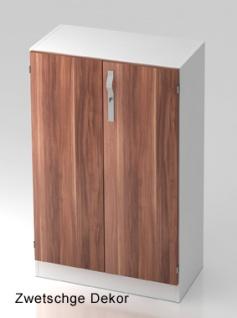 Büroschrank Hammerbacher Solid SS 3 OH Türen 80 x 42 x 127 cm weiss Zwetschge Dekor
