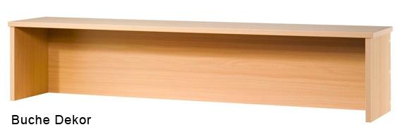 Thekenaufsatz für Schreibtische Hammerbacher 160 cm breit Buche Dekor