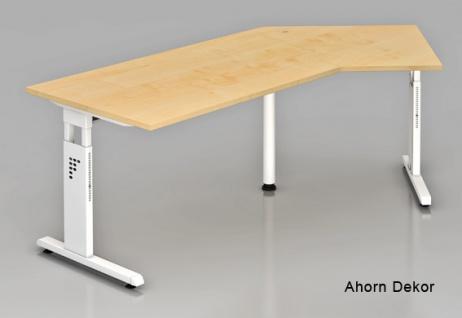 J-Schreibtisch Hammerbacher O-Serie 210 x 113 cm Ahorn Dekor