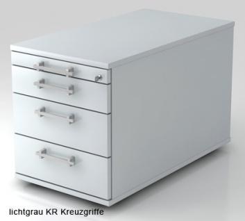 Schreibtischcontainer Hammerbacher Solid 3S Tiefe 80 cm officegrau