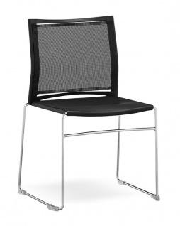 Konferenzstuhl 4-Fuß RMI VIP WB 950 Netz Kunststoff Auswahl Farbe Optionen