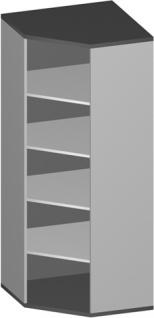 Eck Büroregal Pendo Vari Edo 5 OH 78 x 189 cm breit gerade Auswahl Farbe Optionen
