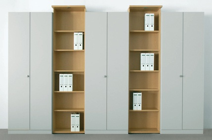 Büro Schrankwand Pendo Vari N 360 x 234 x 44 cm 6 OH Auswahl Farbe Optionen