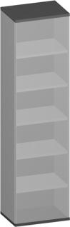 Büroregal Pendo Vari Edo 6 OH 70 x 224 x 44 cm Auswahl Farbe Optionen