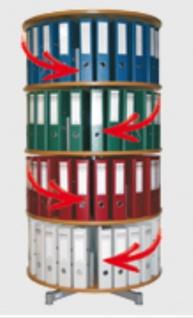Drehsäule für Ordner RFF 81 cm 4 Etagen einzeln drehbar Buche