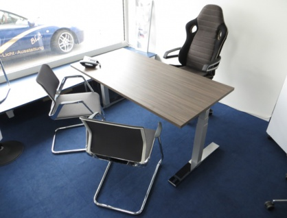 Schreibtisch elektrisch höhenverstellbar Pendo Polar Top 160 x 80 cm Top Vor-Ort-Artikel