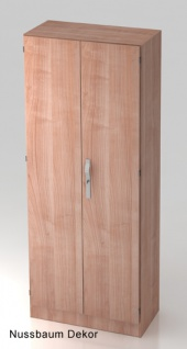 Garderobenschrank Hammerbacher Solid S 5OH Türen 80 x 42 x 201 cm Nussbaum Dekor