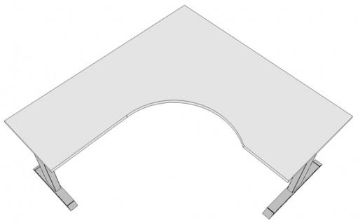 Eck-Schreibtisch Pendo Ergo Polar L-Form B 180 x 200 cm Auswahl Farbe Optionen