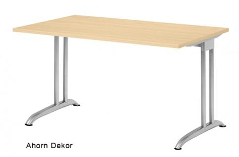 Schreibtisch Hammerbacher B-Serie 120 x 80 cm Ahorn Dekor