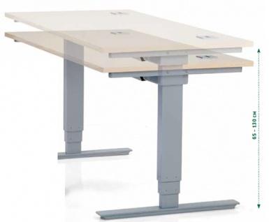 Schreibtisch elektrisch höhenverstellbar BN Office Modell Elektro 160 x 80 cm Elektro schnell