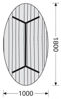 Konferenztisch Interstuhl Charme 180 x 100 cm oval Auswahl Farbe Optionen