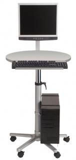 Profi-Monitorpult mit Flachbildschirmträger Maul grau