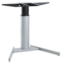 Tischgestell elektrisch höhenverstellbar Conset Elektro 2 Single Alu silber