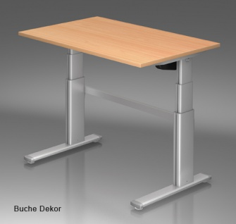 Schreibtisch Hammerbacher XD Elektro 120 x 80 cm Buche Dekor
