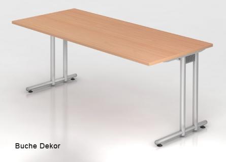 Schreibtisch Hammerbacher N-Serie 200 x 100 cm Buche Dekor