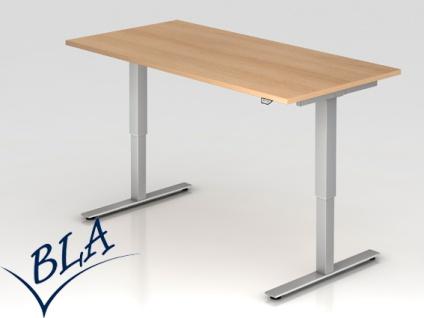 Schreibtisch elektrisch höhenverstellbar Hammerbacher Xanten Eco 160 x 80 cm Auswahl Farbe Optionen