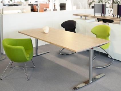 Schreibtisch elektrisch höhenverstellbar Pendo Flair Chrom Auswahl Form Farbe Größe