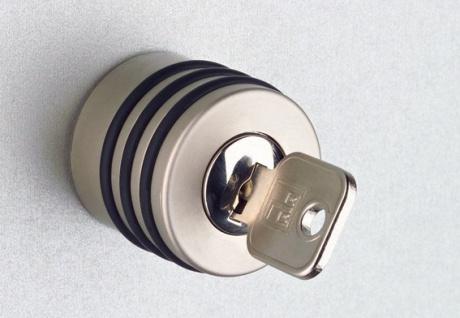 Büroschrank Hammerbacher Solid SS 5 OH Türen 2 OH 80 x 42 x 201 cm Nussbaum Dekor silber