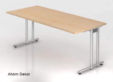 Schreibtisch Hammerbacher N-Serie 180 x 80 cm Ahorn Dekor