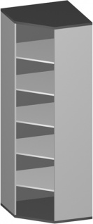 Eck Büroregal Pendo Vari Edo 6 OH 78 x 224 cm breit gerade Auswahl Farbe Optionen