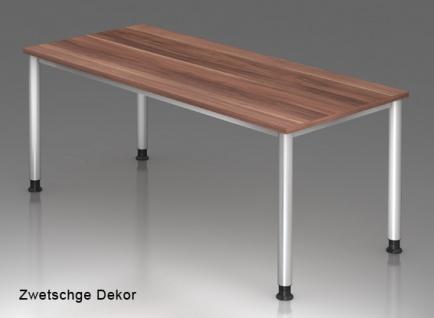 Schreibtisch Hammerbacher H-Serie 180 x 80 cm Zwetschge Dekor