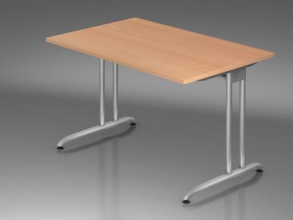 Schreibtisch Hammerbacher B-Serie 120 x 80 cm Buche Dekor