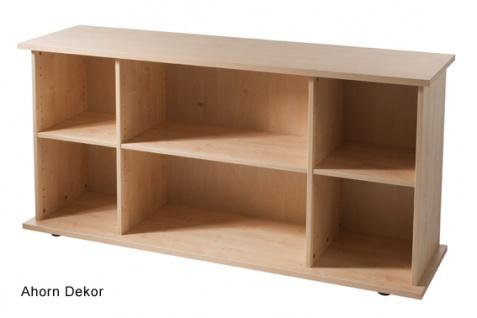 Büro Sideboard Hammerbacher Büroregal Basic 2 OH 166 x 45 x 84 cm Ahorn Dekor