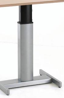 Schreibtisch elektrisch höhenverstellbar CNS Single 3 silber Auswahl Farbe Optionen