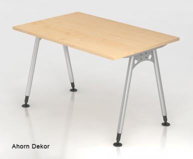 Schreibtisch Hammerbacher A-Serie 120 x 80 cm Ahorn Dekor