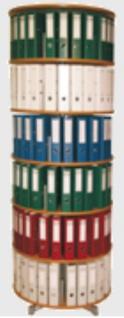 Drehsäule für Ordner RFF 81 cm 6 Etagen einzeln drehbar Buche